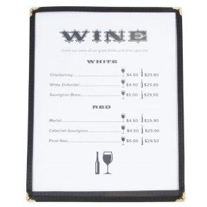 menu covers
