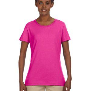 Jerzees Ladies 5.6 oz. DRI-POWER ACTIVE T-Shirt Cyber Pink Front