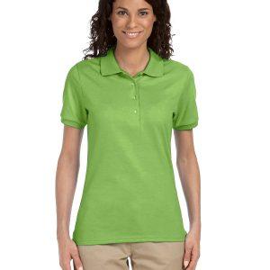 Jerzees Ladies 5.6 oz. SpotShield Jersey Polo Shirt Kiwi Front