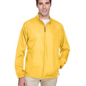 Core 365 Mens Motivate Unlined Lightweight Jacket Campus Gold Front