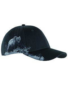 Cotton Twill Grizzly Bear Cap
