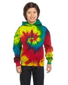 Youth L 80/% Cotton Long Sleeve Tie Dye Hooded Sweatshirt Baby Blue Youth XS